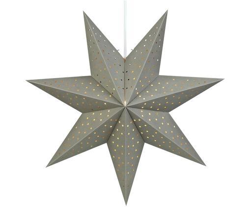 Estrella de Navidad Morris, Cable: plástico, Gris, Ø 45 cm