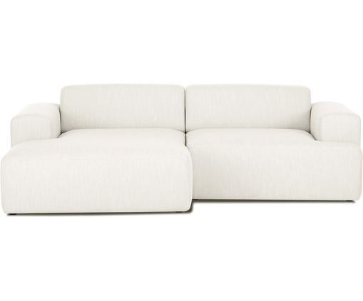 Ecksofa Melva (3-Sitzer), Bezug: Polyester 35.000 Scheuert, Gestell: Massives Kiefernholz, Spa, Füße: Kiefernholz, Webstoff Beige, B 240 x T 144 cm