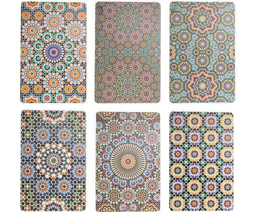Set 6 tovagliette americane Marrakech, Materiale sintetico, Multicolore, Larg. 28 x Lung. 44 cm