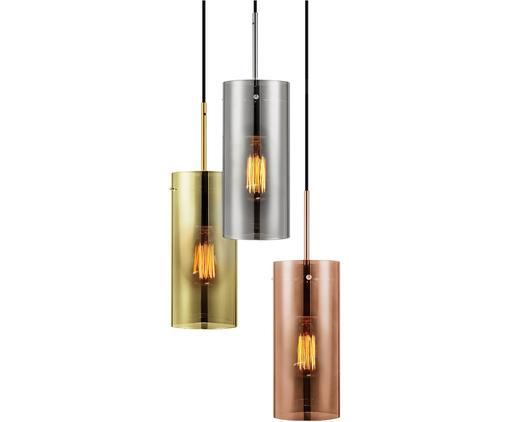 Lampa wisząca Storm, Odcienie miedzi, srebrnoszary, odcienie złotego, Ø 40 x W 48 cm