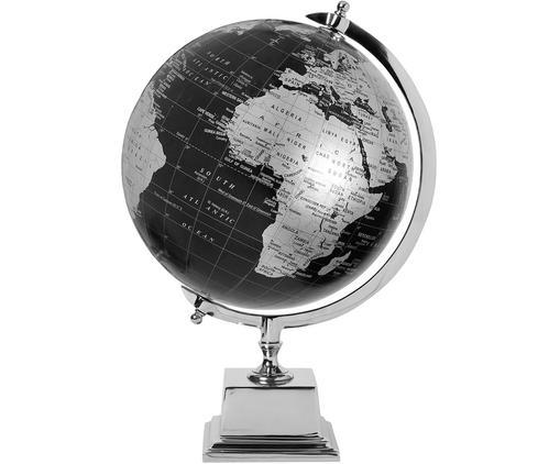 Globus dekoracyjny Alun, Czarny, odcienie srebrnego, S 33 x W 47 cm