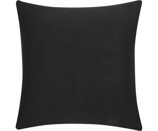Federa arredo in nero Mads, Cotone, Nero, Larg. 40 x Lung. 40 cm