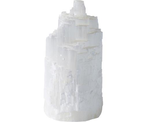 Dekoracja Selome, Selenit (kamień lustrzany), Biały, Ø 11 x W 22 cm