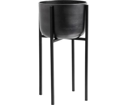 Portavaso Minell, Struttura: metallo, rivestito, Nero, Ø 33 x A 60 cm