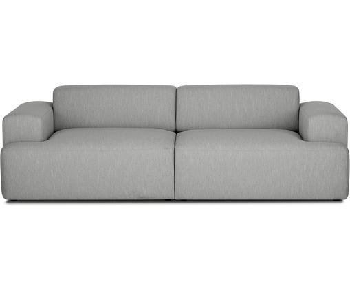 Sofa Melva (3-Sitzer), Bezug: Polyester 35.000 Scheuert, Gestell: Massives Kiefernholz, Spa, Füße: Kiefernholz, Webstoff Grau, B 240 x T 101 cm