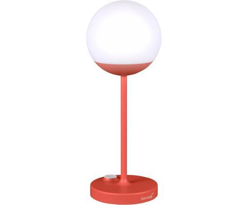 Mobile LED Außenleuchte Mooon, Lampenschirm: Kunststoff, Rot, Ø 15 x H 41 cm
