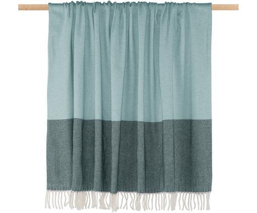 Plaid Stripes, 50% Baumwolle, 50% Polyacryl, Blautöne, 150 x 200 cm