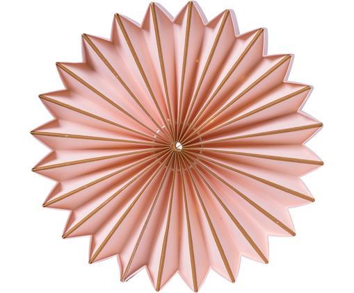 Decorazione in carta con LED Juliette, Carta, Rosa, dorato, Ø 25 cm