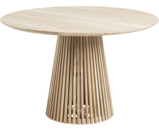 Tavolo rotondo in legno massello Jeanette, Legno massello, finitura naturale, Legno di teak, Ø 120 x Alt. 78 cm