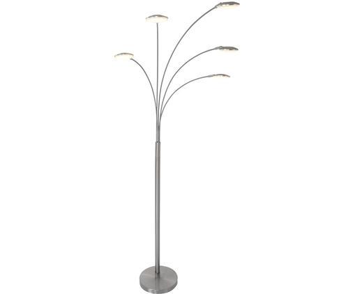 Dimmbare LED Stehlampe Synna, Metall, vernickelt, Nickel, matt, 30 x 189 cm