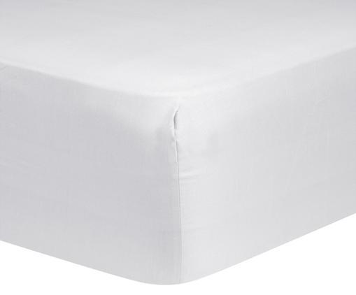 Drap-housse en satin de coton pour sommier tapissier Comfort, Gris clair