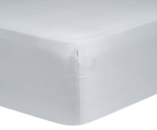 Spannbettlaken Comfort, Baumwollsatin, Webart: Satin, leicht glänzend, Hellgrau, 140 x 200 cm