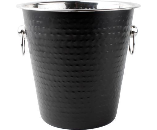 Flaschenkühler Onur, Edelstahl, beschichtet und gehämmert, Schwarz, Ø 22 x H 21 cm