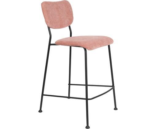 Draadgebonden toonbank Beson, Frame: gepoedercoat metaal, Roze, 46 x 92 cm