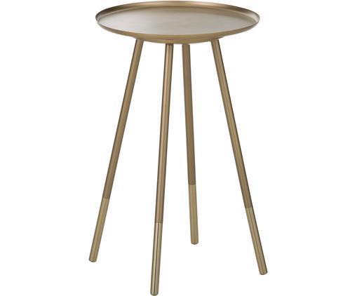 Stolik pomocniczy z mosiądzu Eliot, Mosiężny, Ø 37 x W 59 cm