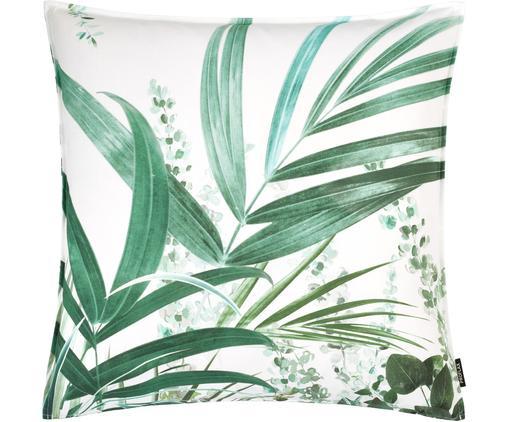 Poszewka na poduszkę Yucca, Bawełna, Biały, odcienie zielonego, S 50 x D 50 cm