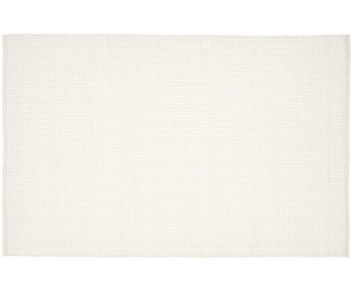 Handgewebter Wollteppich Amaro, 38% Wolle, 22% Polyester, 20% Baumwolle, 20% Polyamid, Cremeweiß, B 120 x L 180 cm (Größe S)