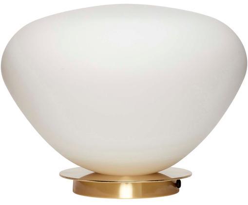 Lampada da tavolo Lando, Bianco, ottone