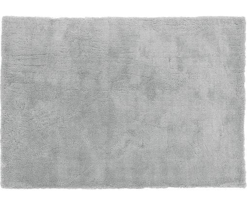 Alfombra de pelo largo Leighton, Parte superior: 100%poliéster (microfibr, Reverso: 100%poliéster, Gris oscuro, An 120 x L 180 cm (Tamaño S)