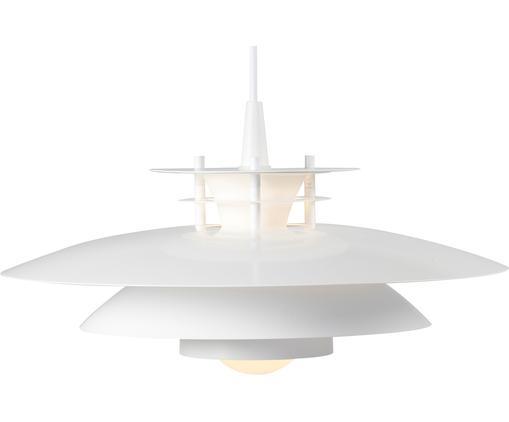 Skandi-Pendelleuchte Ledi, Lampenschirm: Metall, beschichtet, Weiß, Ø 40 x H 23 cm