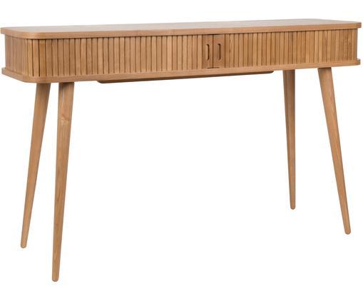 Console en bois avec rangement Barbier, Structure: brun Portes coulissantes et pieds: bois de frêne