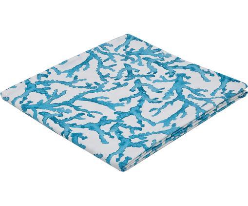 Mantel Estran, Algodón, Azul, blanco, De 4 a 6 comensales (An 160 x L 160 cm)