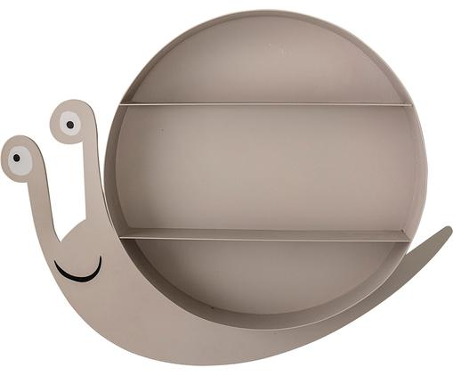 Wandplank Slimy, Gelakt metaal, Bruin, 50 x 40 cm