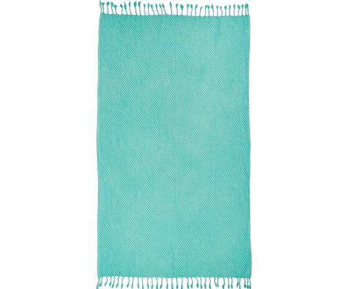 Ręcznik plażowy Ola, Bawełna, Niska gramatura 320g/m², Turkusowy, S 100 x D 180 cm