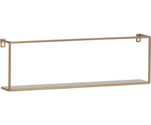 Metall-Wandregal Meert in Gold, Metall, pulverbeschichtet, Messingfarben, 50 x 16 cm