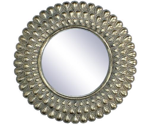 Runder Wandspiegel Binty mit Goldrahmen, Rahmen: Polyresin, Spiegelfläche: Spiegelglas, Goldfarben, Ø 26 cm