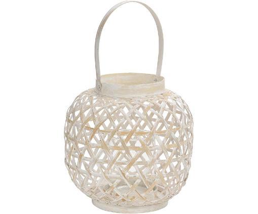 Lanterna Bamboo, Bambù, Bianco, beige, Ø 24 x Alt. 39 cm