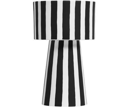 Portavaso fatto a mano Toppu, Ceramica, Bianco, nero, Ø 15 x Alt. 24 cm