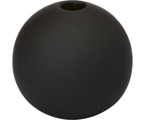 Ręcznie wykonany wazon Ball, Ceramika, Czarny, Ø 8 x W 8 cm