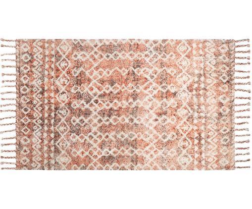Teppich Barcelona, Baumwolle, Rottöne, B 150 x L 200 cm (Größe S)