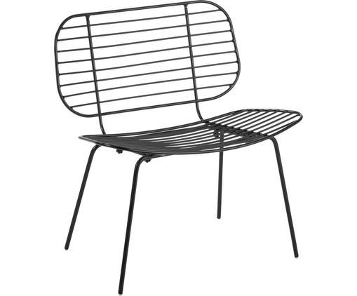 Fotel Chloé, Metal malowany proszkowo, Czarny, matowy, S 71 x W 74 cm