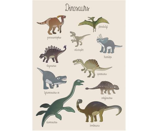 Poster Dino, Kunstpapier, 250g/m², Multicolour, 50 x 70 cm