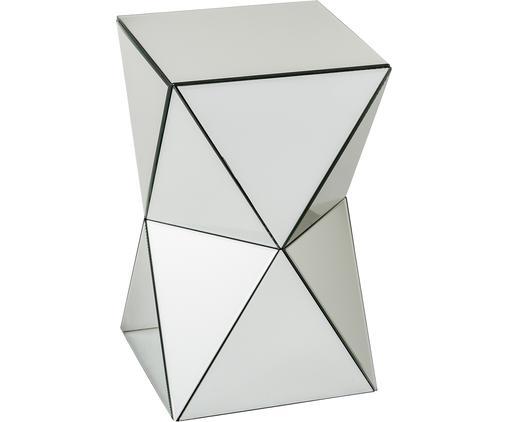 Tavolino d'appoggio Marit, Fibra di media densità, lastra di vetro, Argento, L 30 x A 50 cm