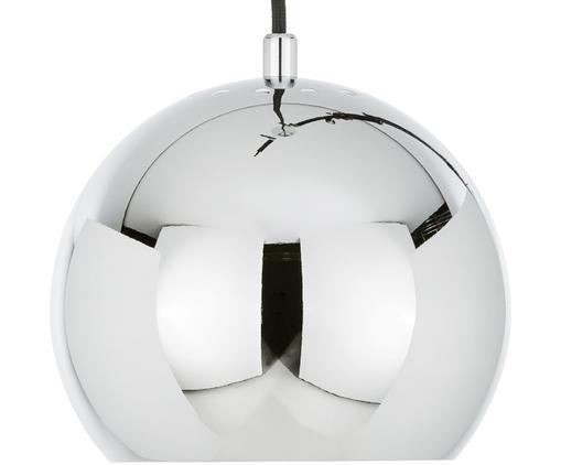 Kleine Kugel-Pendelleuchte Ball, Metall, verchromt, Metall, verchromt, Ø 18 x H 16 cm