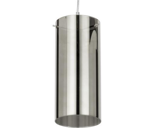 Lampada a sospensione  in vetro Storm, Paralume: vetro rivestito, Paralume: grigio argento, trasparente Fissaggio e baldacchino: nichel, Ø 12 x Alt. 27 cm