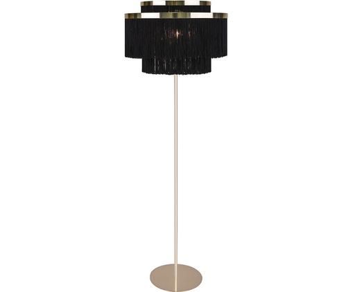 Lampadaire design Frans, Noir, couleur dorée
