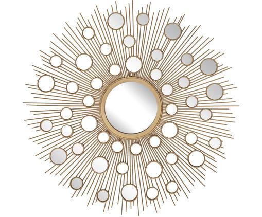 Lustro ścienne Agnes, Odcienie złotego, Ø 82 cm