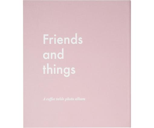 Álbum de fotos Friends and Things, Rosa pálido, blanco, L 34 x An 29 cm