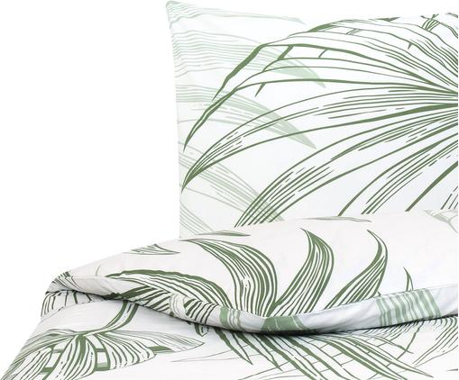 Pościel z bawełny renforcé Alessa, Biały, jasny zielony, ciemny zielony, 135 x 200 cm