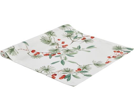 Runner da tavolo Myrta, Cotone, Bianco, verde, rosso, Larg. 50 x Lung. 160 cm