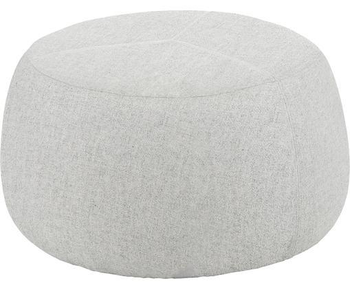 Pouf Sit, Bezug: 100% Wolle, Hellgrau, Ø 70 x H 38 cm