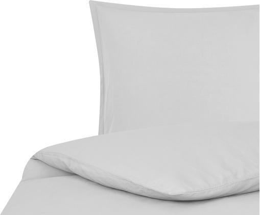 Funda nórdica de lino Nature, 52%lino, 48%algodón Con efecto Stonewash para una sensación más suave, Gris claro, Cama 180/200 cm (260 x 220 cm)