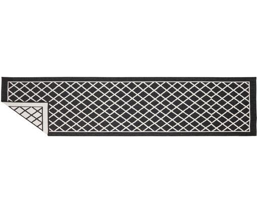 In- und Outdoor-Wendeläufer Sydney in Schwarz/Creme, Schwarz, Creme, 80 x 350 cm