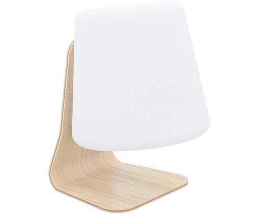 Lampe d'extérieur LED mobile avec enceinte Table, Blanc, brun clair