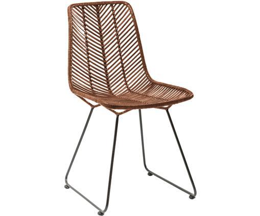 Krzesło z rattanu Ko Lanta, Rattan, czarny