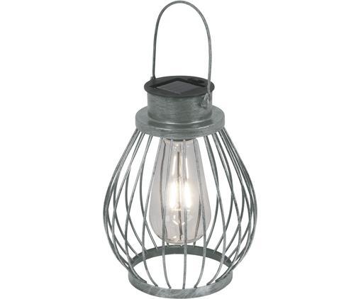 Lampa solarna LED Grid, Metal, szkło, tworzywo sztuczne, Stal szlachetna, Ø 16 x W 30 cm